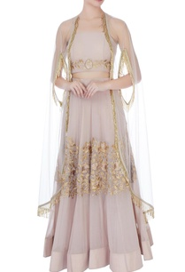 pale-muave-georgette-thread-embroidery-lehenga-with-blouse-cape