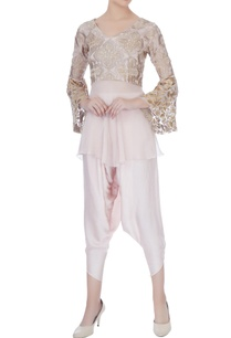 pale-muave-thread-embroidery-dhoti-pant-with-blouse
