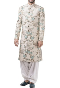 white-embossed-sherwani