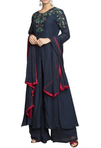 ink-blue-pure-georgette-embroidered-kurta-palazzo-and-dupatta-set