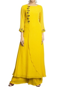 yellow-pure-georgette-embroidered-palazzo-set