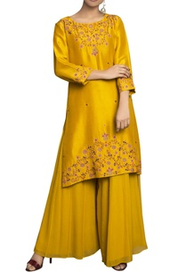 yellow-pure-georgette-pure-dupion-silk-embroidered-palazzo-set