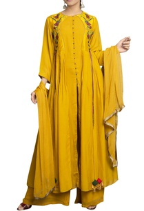 yellow-flat-chiffon-pure-dupion-silk-embroidered-palazzo-set