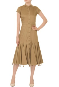 safari-green-midi-dress-with-deconstructed-tassel-layer