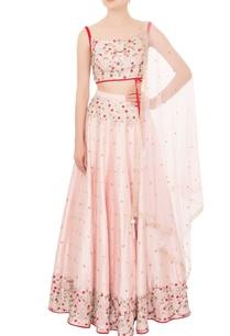 baby-pink-dupion-silk-cutdana-work-lehenga-with-velvet-strap-blouse-dupatta