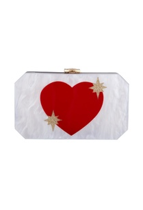white-red-acrylic-heart-clutch-bag