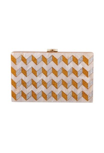 gold-silver-acrylic-zig-zag-design-clutch-bag