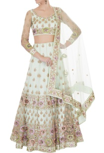 mint-green-satin-net-aari-embroidered-lehenga-with-blouse-dupatta