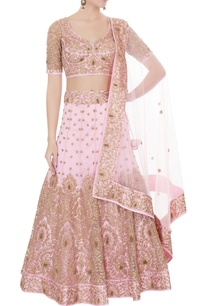 pink-satin-net-aari-embroidered-lehenga-with-blouse-dupatta