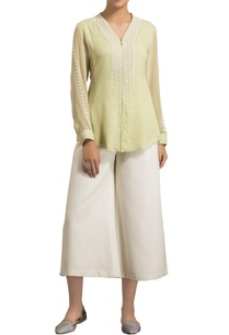 light-green-viscose-georgette-v-neck-blouse