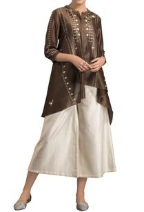 brown-chanderi-high-low-shibori-kurta