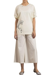 ivory-poplin-oversized-screen-printed-blouse