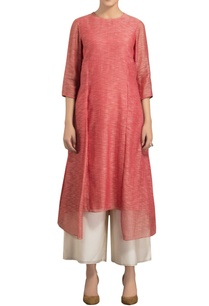 watermelon-slub-chanderi-kurta