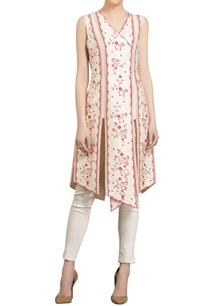 ivory-red-chanderi-floral-digital-printed-asymmetric-tunic-with-straight-pants