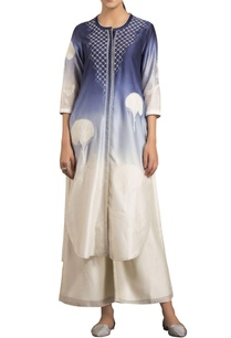 white-indigo-blue-embroidered-kurta-with-palazzos