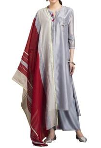 slate-grey-chanderi-warli-art-kurta-set