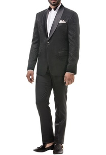 black-wool-tuxedo-wool-blazer-set