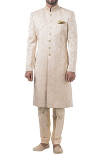 beige-brocade-pearl-embroidered-sherwani-with-trousers