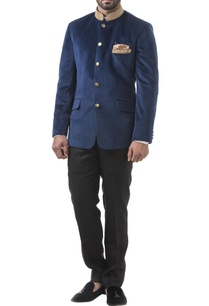 navy-blue-velvet-zardozi-bandhgala-with-trousers