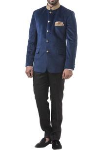 navy-blue-velvet-zardozi-bandhgala-with-trousers
