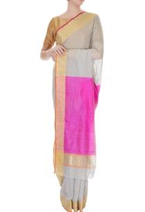grey-handwoven-pure-banarasi-silk-saree