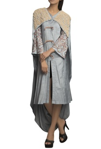 grey-pure-handloom-embroidered-draped-dress