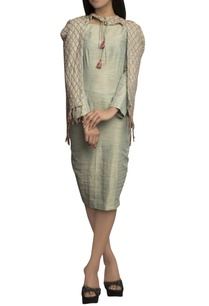 mint-green-pure-handloom-detailed-dress-with-cape