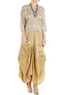 beige-linen-silk-dhoti-skirt