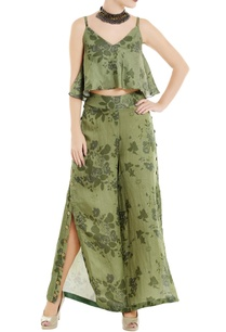 green-floral-printed-spaghetti-top-with-palazzos