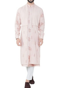 pink-double-layered-hand-woven-cotton-cape