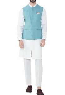 seafoam-blue-hand-woven-cotton-bandhi-jacket