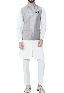 grey-pure-silk-overlap-bandhi