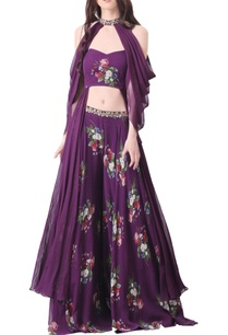 purple-georgette-embroidered-palazzo-set-with-cape