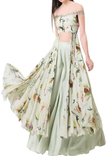 pista-green-georgette-crepe-printed-top-with-palazzos