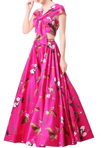 hot-pink-modal-satin-lehenga-set