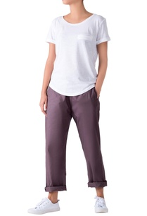 charcoal-grey-poplin-pants-with-side-pockets