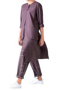 charcoal-grey-poplin-layered-overlay-tunic