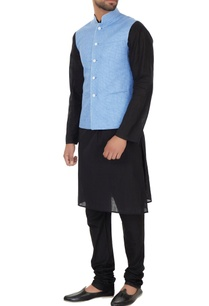 light-blue-chequered-bundi