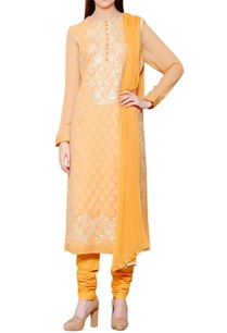 mango-yellow-floral-gota-embroidered-kurta-set