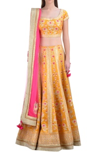 marigold-silk-gota-embroidered-lehenga-set