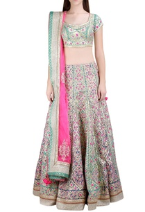 multicolored-gota-embroidered-lehenga-set
