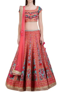 multicolored-floral-gota-embroidered-lehenga-set