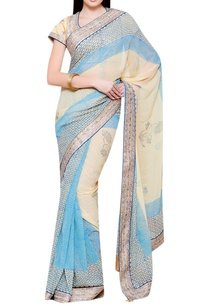 blue-beige-gota-embroidered-sari-with-blouse