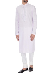 lilac-linen-embroidered-kurta-pyjamas