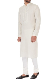 white-linen-embroidered-kurta-pyjamas