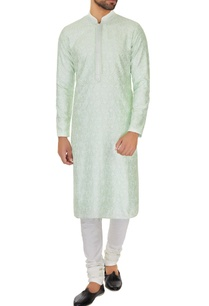 mint-green-chanderi-chikan-embroidered-kurta-pyjamas
