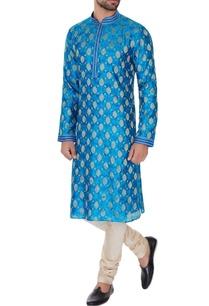 turqouise-pure-silk-embroidered-kurta-pyjamas