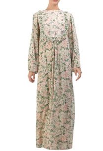 salmon-pink-floral-jaal-printed-maxi-dress