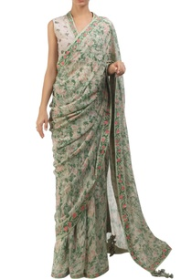 antique-jade-chiffon-crepe-hand-painted-sari-with-blouse