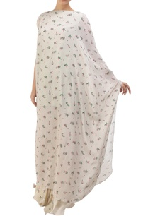 grey-crepe-hand-painted-kaftan-with-cowl-skirt